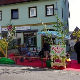 Beim PARKing Day 2020 in Böblingen wurden wieder einmal Parkplätze in Parks verwandelt