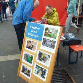 Die Essbare Stadt Böblingen hat einen eigenen Stand beim Böblinger Mobilitätstag 2018. Wir haben Interessenten ein Feinstaubmessgerät erläutert und über unseren sonstigen Aktivitäten berichtet, es gab einige spannende Gespräche